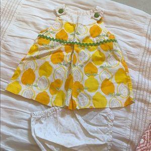Custom Lemon Dress and Bloomers